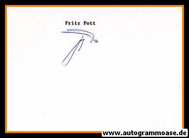 Autograph Fussball   Fritz POTT