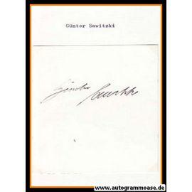 Autograph Fussball | Günter SAWITZKI
