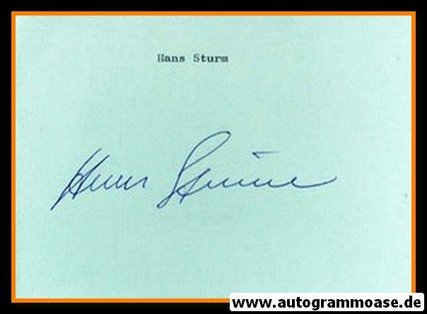 Autograph Fussball | Hans STURM (DFB 1950er)