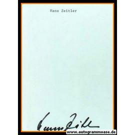 Autograph Fussball   Hans ZEITLER (DFB 1950er)