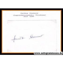 Autograph Fussball | DDR | Heinz WERNER