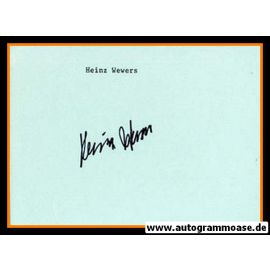Autograph Fussball | Heinz WEWERS