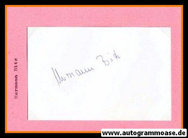 Autograph Fussball   Hermann BITZ