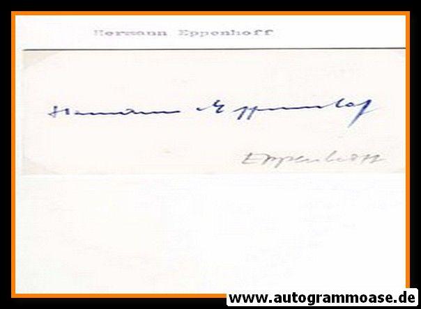 Autograph Fussball | Hermann EPPENHOFF (DFB + Schalke 1940er)