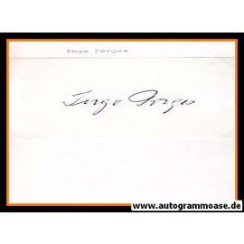Autograph Fussball   Ingo PORGES