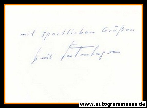 Autograph Fussball   Kurt BORKENHAGEN (DFB 1952)