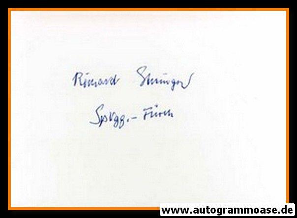 Autograph Fussball   Richard GOTTINGER (DFB 1953)