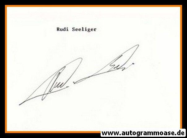 Autograph Fussball | Rudi SELIGER