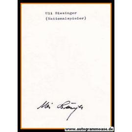 Autograph Fussball   Ulrich BIESINGER