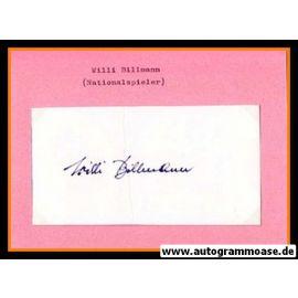 Autograph Fussball   Willi BILLMANN (DFB 1930er)