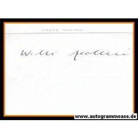 Autograph Fussball   Willi GERDAU (DFB 1950er)