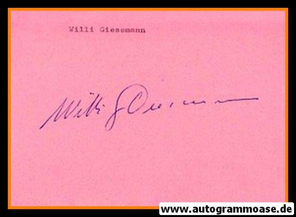 Autograph Fussball   Willi GIESEMANN