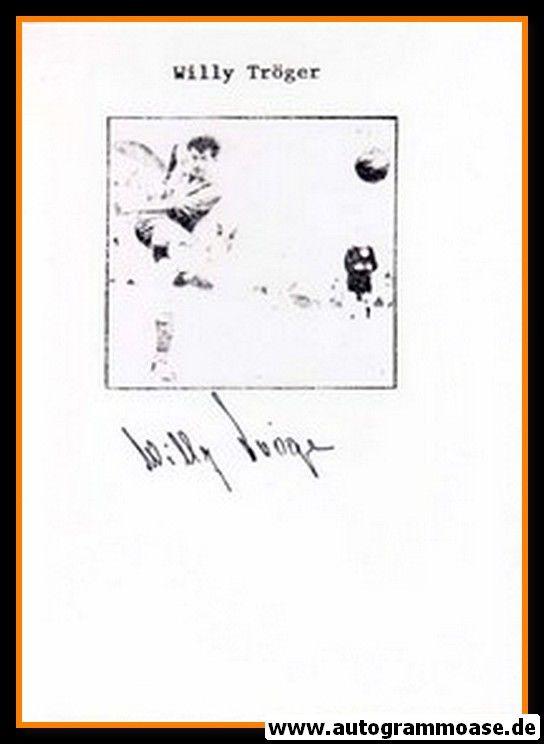 Autograph Fussball   DDR   Willy TRÖGER (1950er)