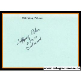 Autograph Fussball | Wolfgang PETERS (DFB 1957)