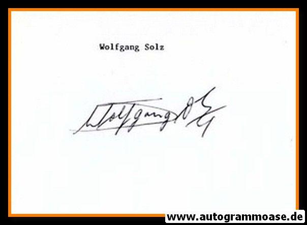 Autograph Fussball | Wolfgang SOLZ