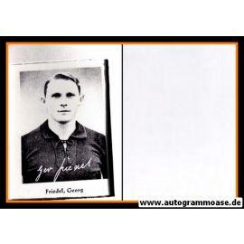 Autogramm Fussball | DFB | 1930er Foto Druck | Georg FRIEDEL (Portrait SW)