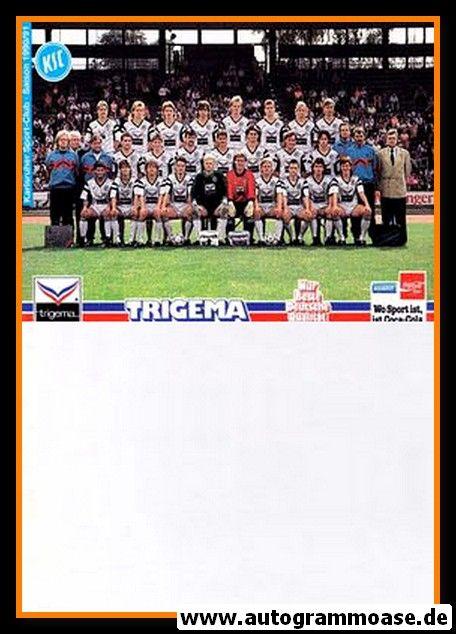 Mannschaftskarte Fussball | Karlsruher SC | 1990