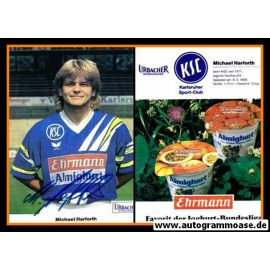 Autogramm Fussball   Karlsruher SC   1991   Michael HARFORTH