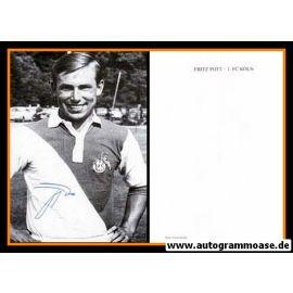 Autogramm Fussball   1. FC Köln   1960er Retro   Fritz POTT (Portrait Color)