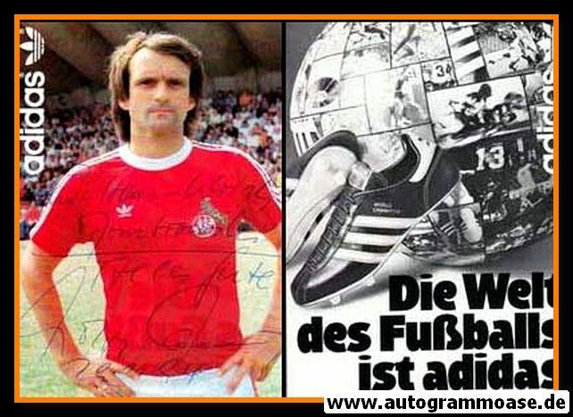 Autogramm Fussball | 1. FC Köln | 1980er Adidas | Wolfgang OVERATH