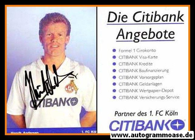 Autogramm Fussball   1. FC Köln   1991   Henrik ANDERSEN