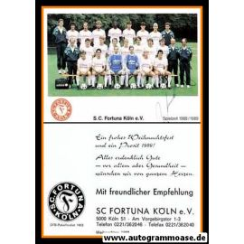 Mannschaftskarte Fussball | Fortuna Köln | 1988 + 2 AG