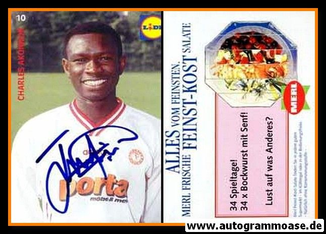 Autogramm Fussball   Fortuna Köln   1995   Charles AKONNOR