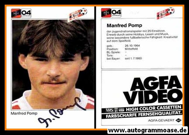 Autogramm Fussball | Bayer Leverkusen | 1983 | Manfred POMP