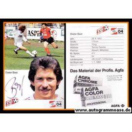 Autogramm Fussball | Bayer Leverkusen | 1985 | Dieter BAST
