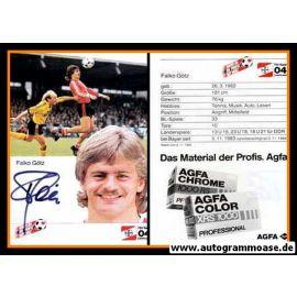 Autogramm Fussball   Bayer Leverkusen   1985   Falko GÖTZ