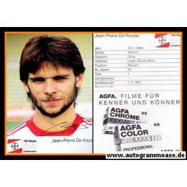 Autogramm Fussball | Bayer Leverkusen | 1987 | Jean-Pierre DE KEYSER (2)