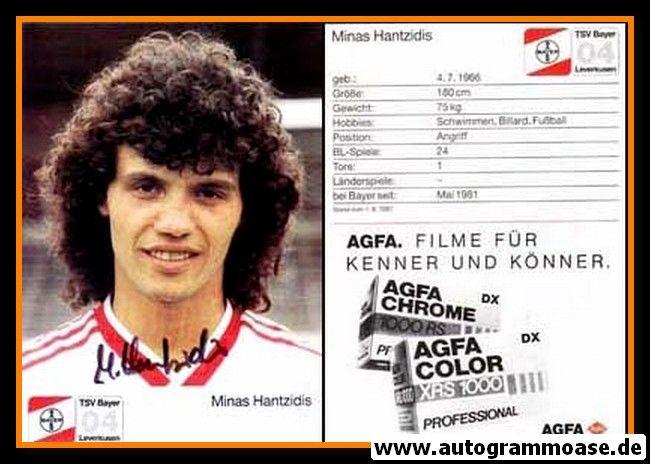 Autogramm Fussball | Bayer Leverkusen | 1987 | Minas HANTZIDIS