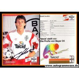 Autogramm Fussball   Bayer Leverkusen   1991-2   Erich SECKLER