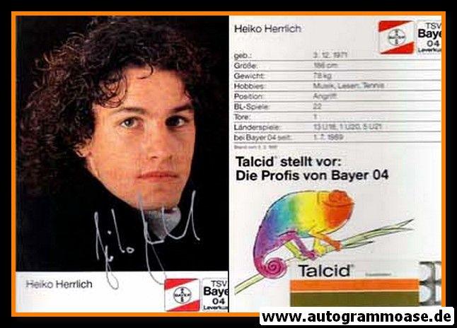 Autogramm Fussball | Bayer Leverkusen | 1991-1 | Heiko HERRLICH (3)