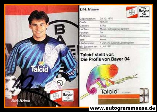 Autogramm Fussball | Bayer Leverkusen | 1991-2 | Dirk HEINEN