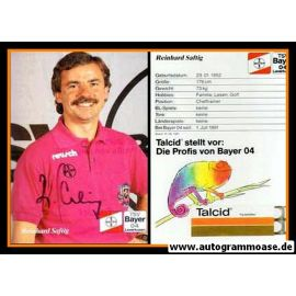 Autogramm Fussball   Bayer Leverkusen   1991-2   Reinhard SAFTIG