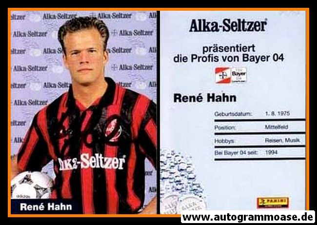 Autogramm Fussball   Bayer Leverkusen   1995   Rene HAHN