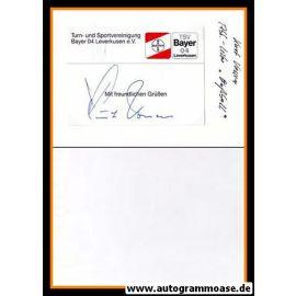 Autograph Fussball   Bayer Leverkusen   Kurt VOSSEN