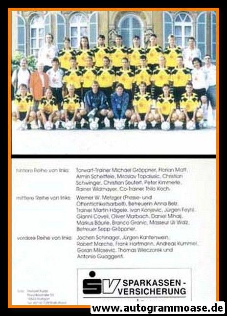 Mannschaftskarte Fussball   SpVgg 07 Ludwigsburg   1995