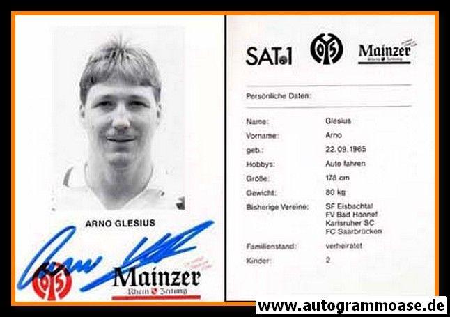 Autogramm Fussball | FSV Mainz 05 | 1995 | Arno GLESIUS