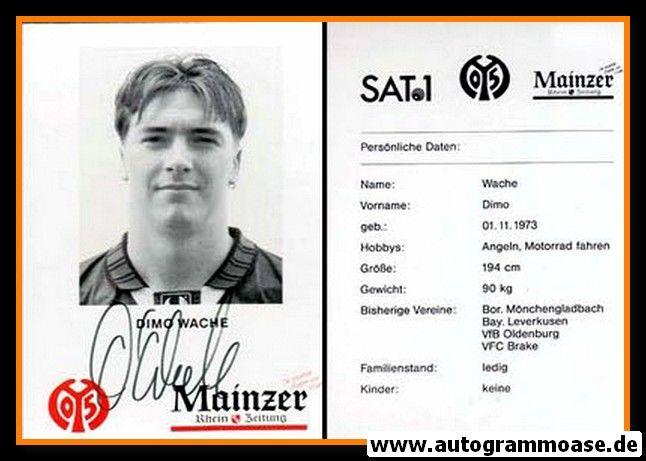 Autogramm Fussball | FSV Mainz 05 | 1995 | Dimo WACHE