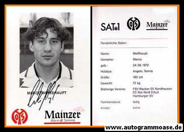 Autogramm Fussball | FSV Mainz 05 | 1995 | Marco WEISSHAUPT