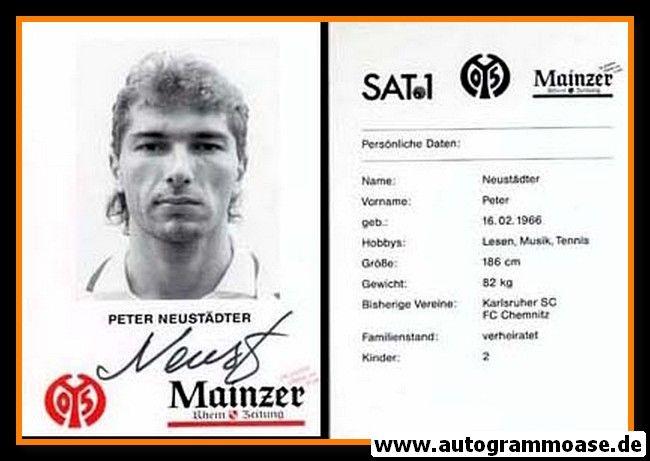 Autogramm Fussball | FSV Mainz 05 | 1995 | Peter NEUSTÄDTER