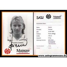 Autogramm Fussball   FSV Mainz 05   1995   Thomas ZIEMER
