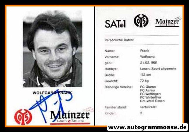 Autogramm Fussball | FSV Mainz 05 | 1995 | Wolfgang FRANK