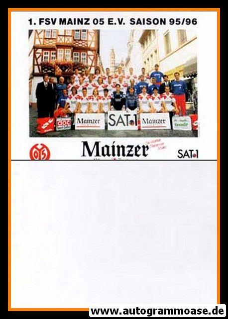 Mannschaftskarte Fussball   FSV Mainz 05   1990