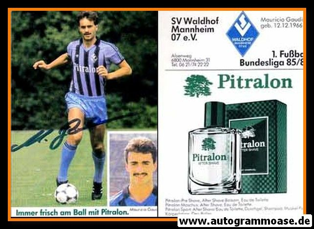 Autogramm Fussball | SV Waldhof Mannheim | 1985 | Maurizio GAUDINO