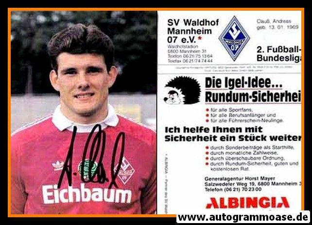 Autogramm Fussball | SV Waldhof Mannheim | 1990 | Andreas CLAUSS