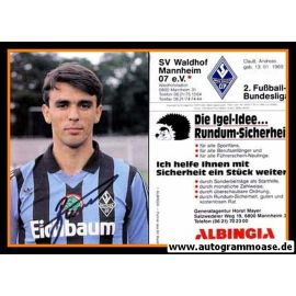Autogramm Fussball   SV Waldhof Mannheim   1990   Damir BURIC