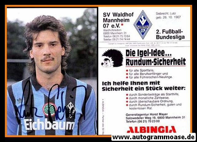 Autogramm Fussball   SV Waldhof Mannheim   1990   Lutz SIEBRECHT